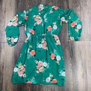 Old Navy l Floral Dress - Green - M